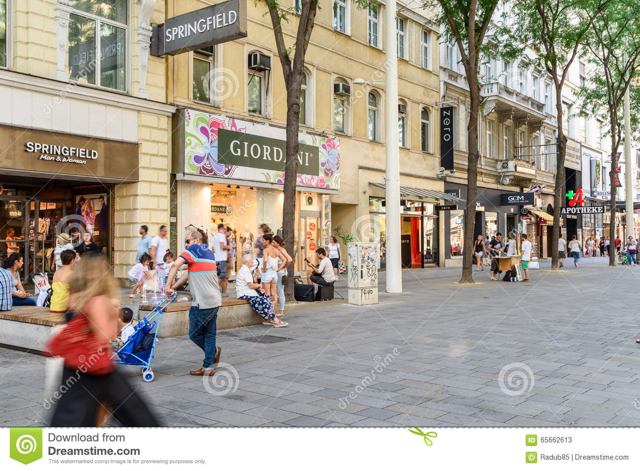 People Shopping On Mariahilferstrasse Shopping Street Of Vienna Editorial Stock Photo - Image Of ...