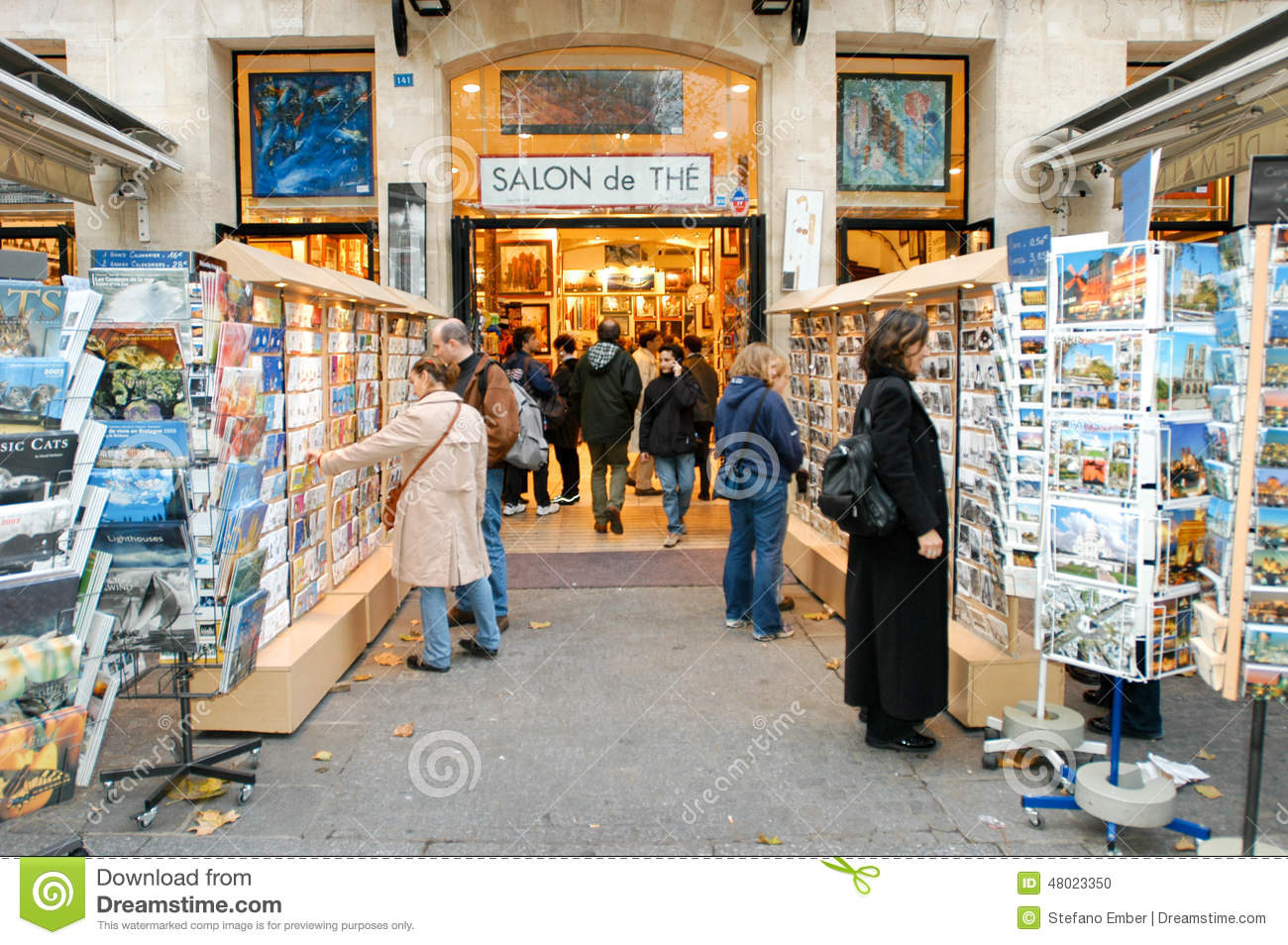 people shopping at a souvenir shop of paris editorial image image 48023350. Black Bedroom Furniture Sets. Home Design Ideas