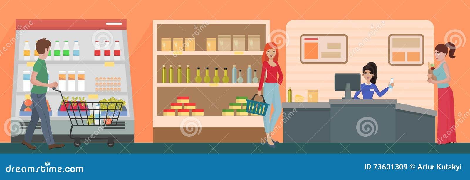 Cashier Cartoons: Cartoon Cashier Employee Stock Illustrations