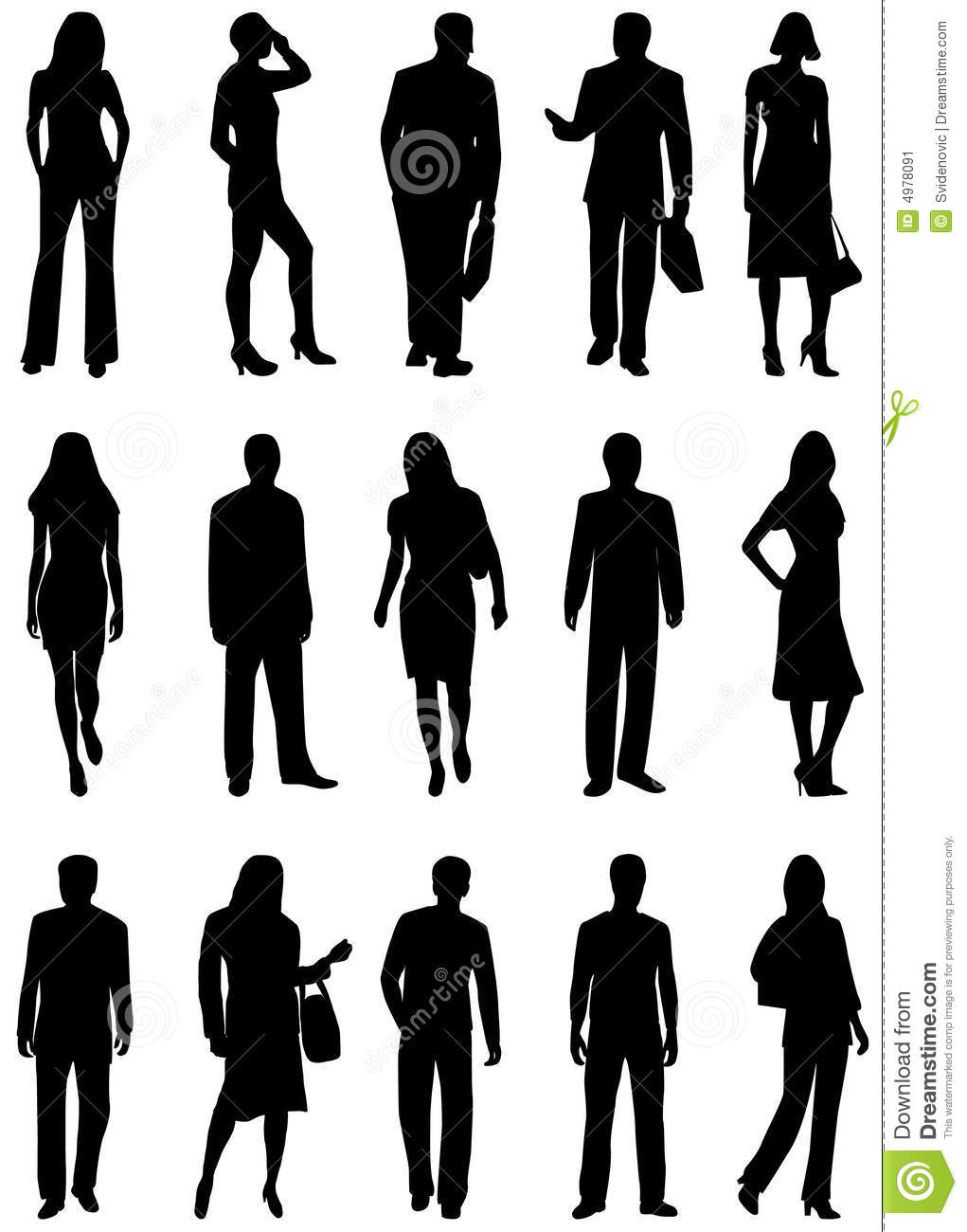 People silhouette stock vector Illustration of outline 4978091