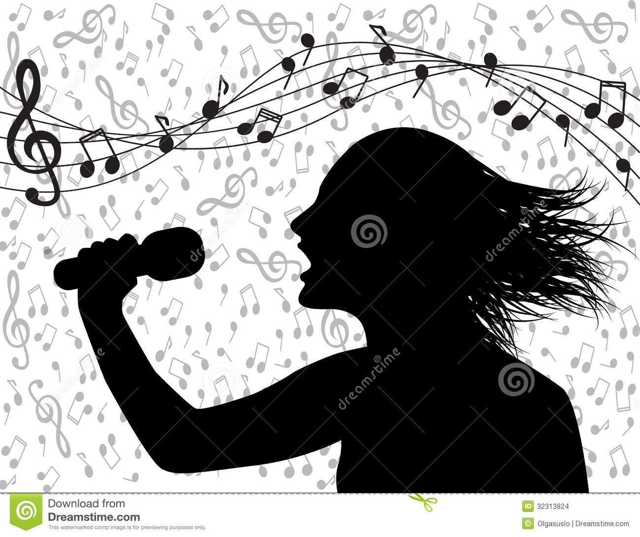 People Singing And Musical Lineup Stock Illustration - Illustration of idol, arts ...