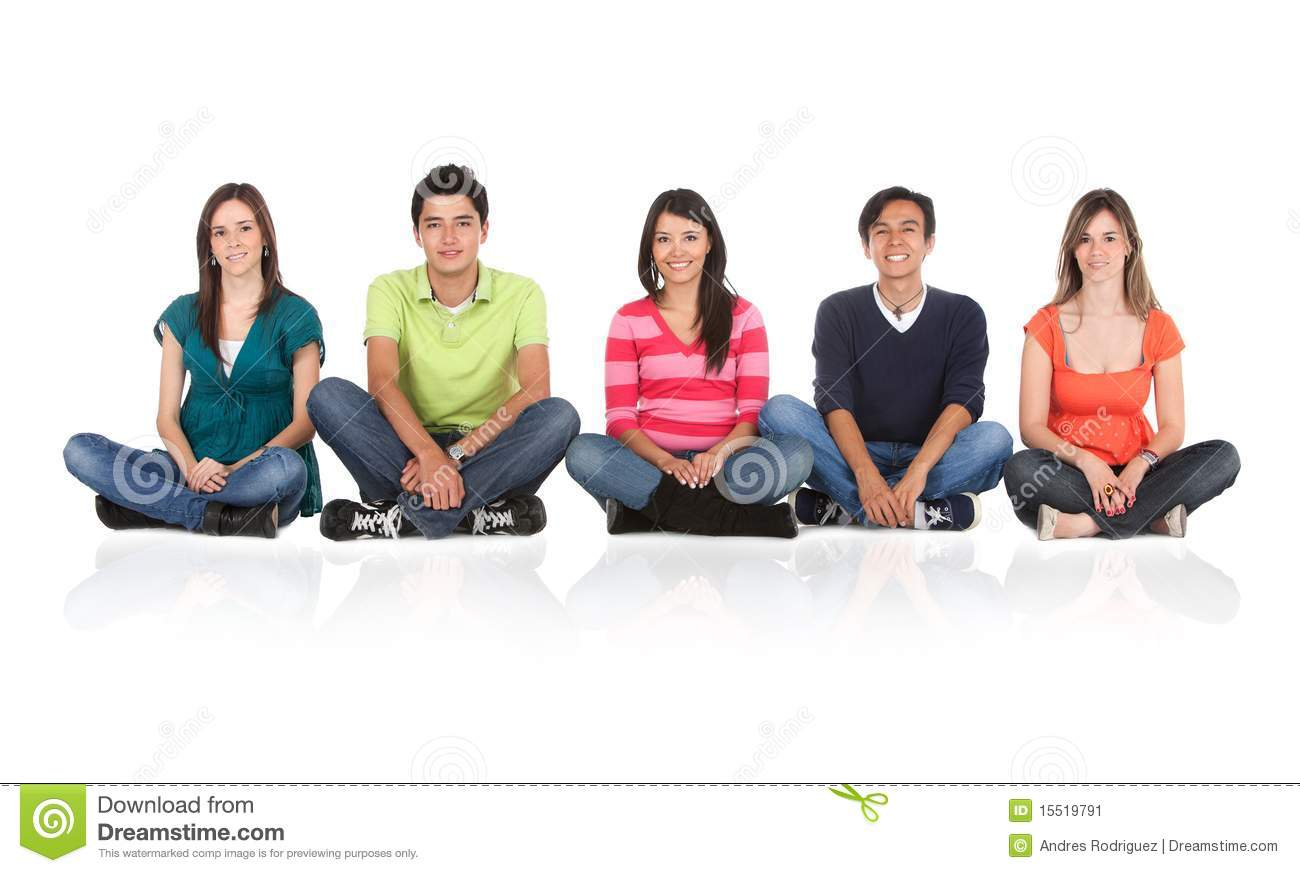 People sitting on the floor stock image image 15519791 for Floor someone