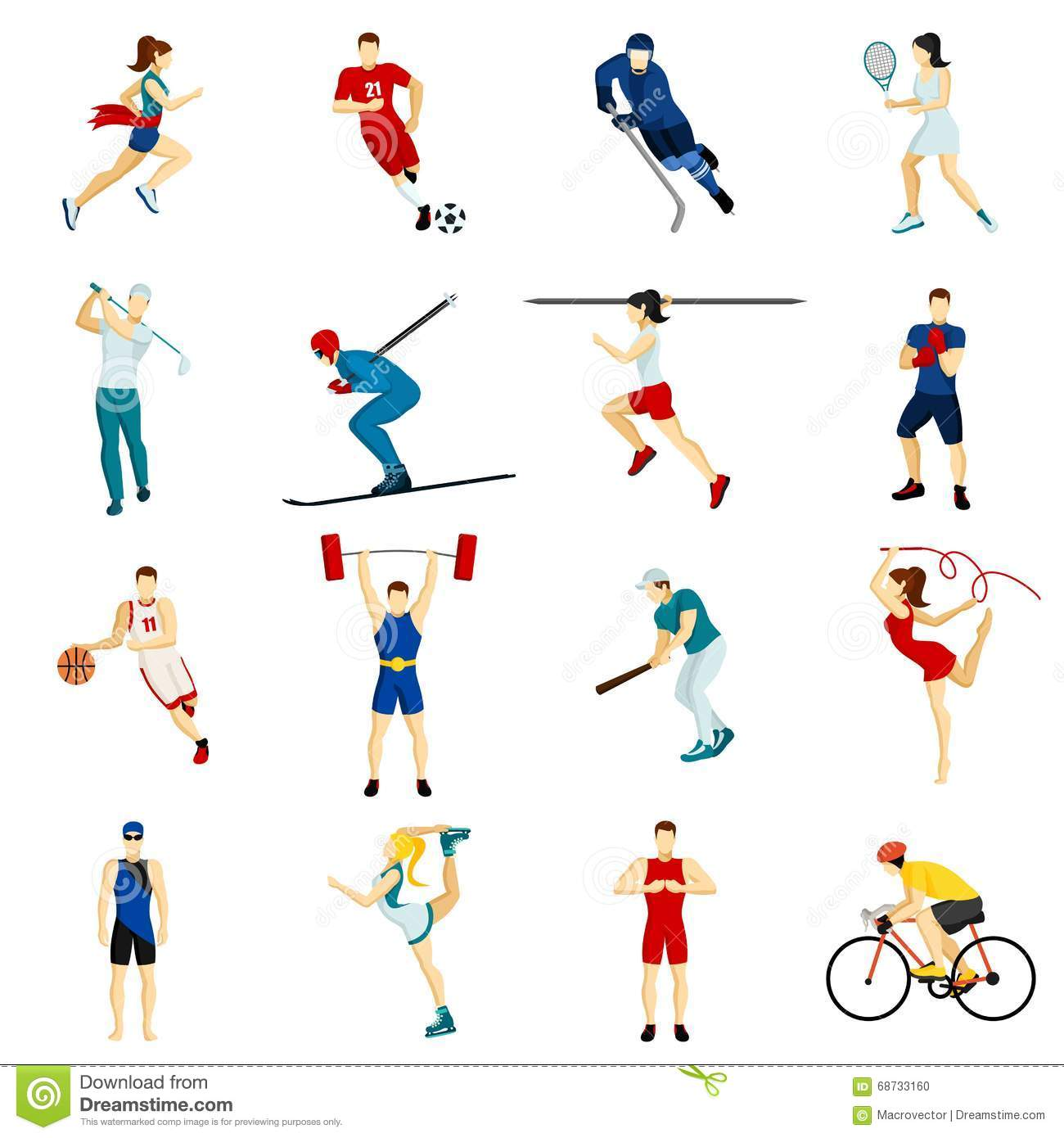 People Sport Icon Set Stock Vector. Illustration Of Human