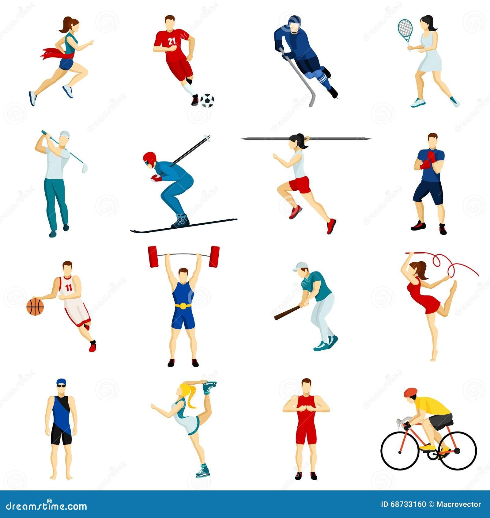 Sport People Set Vector Illustration Cartoondealer Com