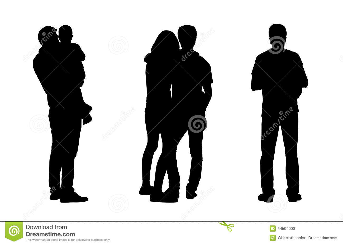 People Standing Outdoor Silhouettes Set 1 Stock ...
