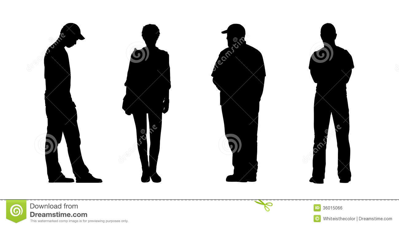 how to draw a person standing from the front