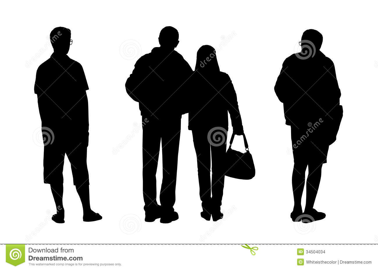 People Standing Outdoor Silhouettes Set 2 Stock Images ...