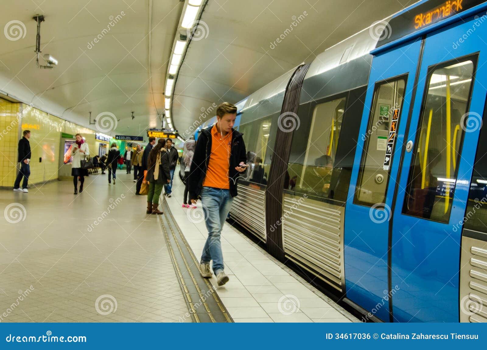 People At Stockholm Subway Editorial Photo - Image: 34617036