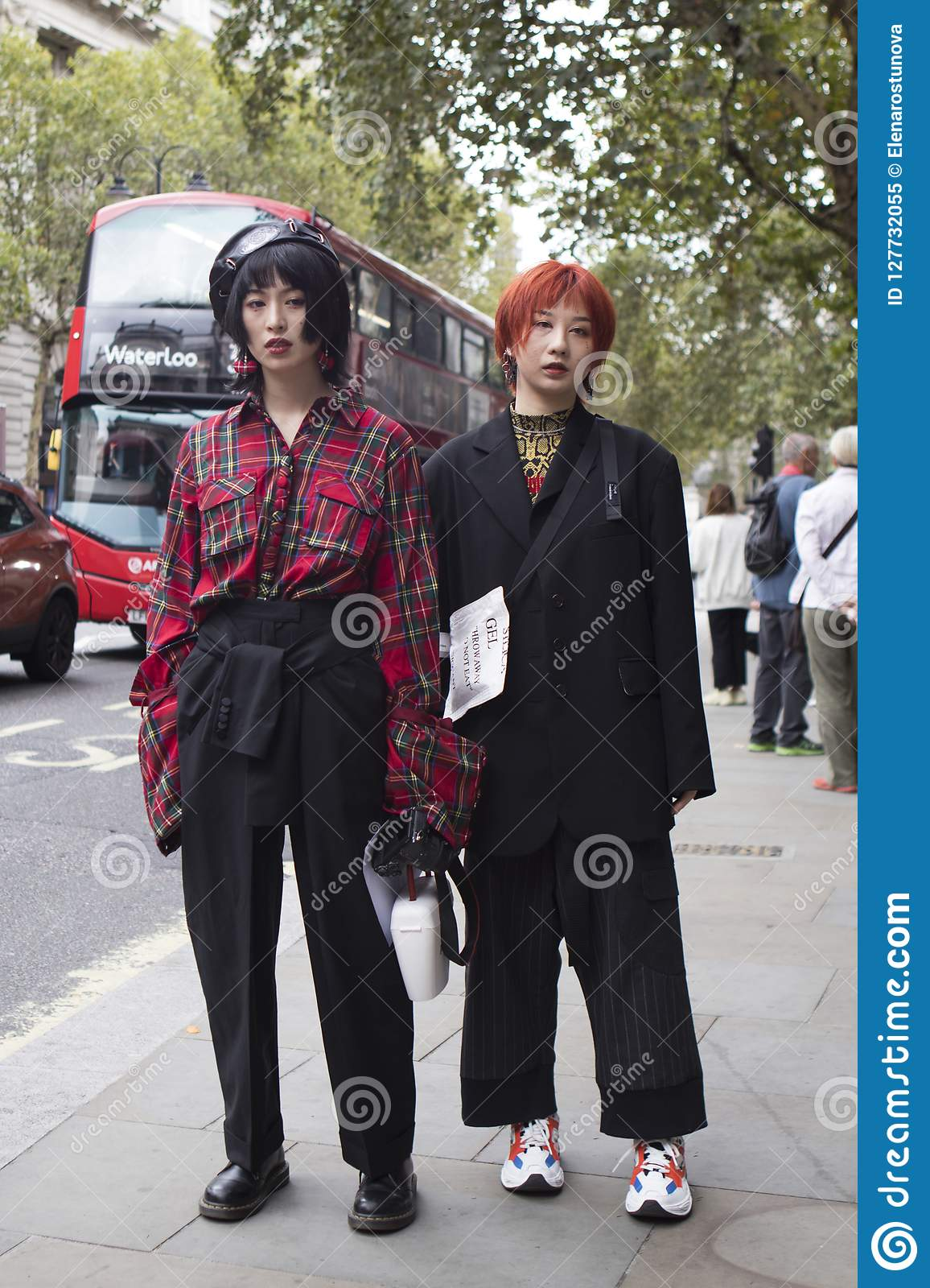 1a56d5f3094 People On The Street During The London Fashion Week. Editorial Image ...