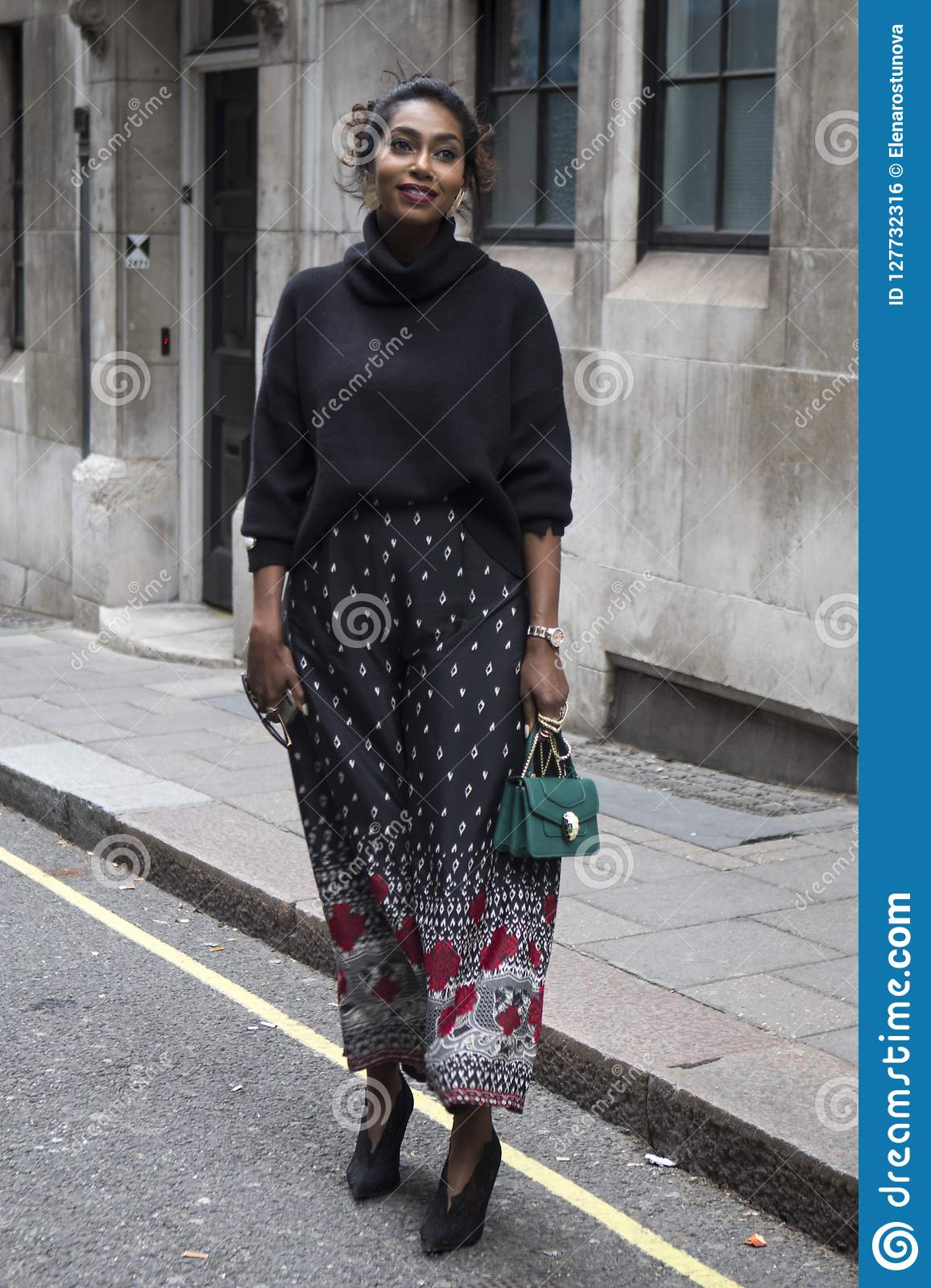 18edbc64f6b People On The Street During The London Fashion Week. Editorial Photo ...