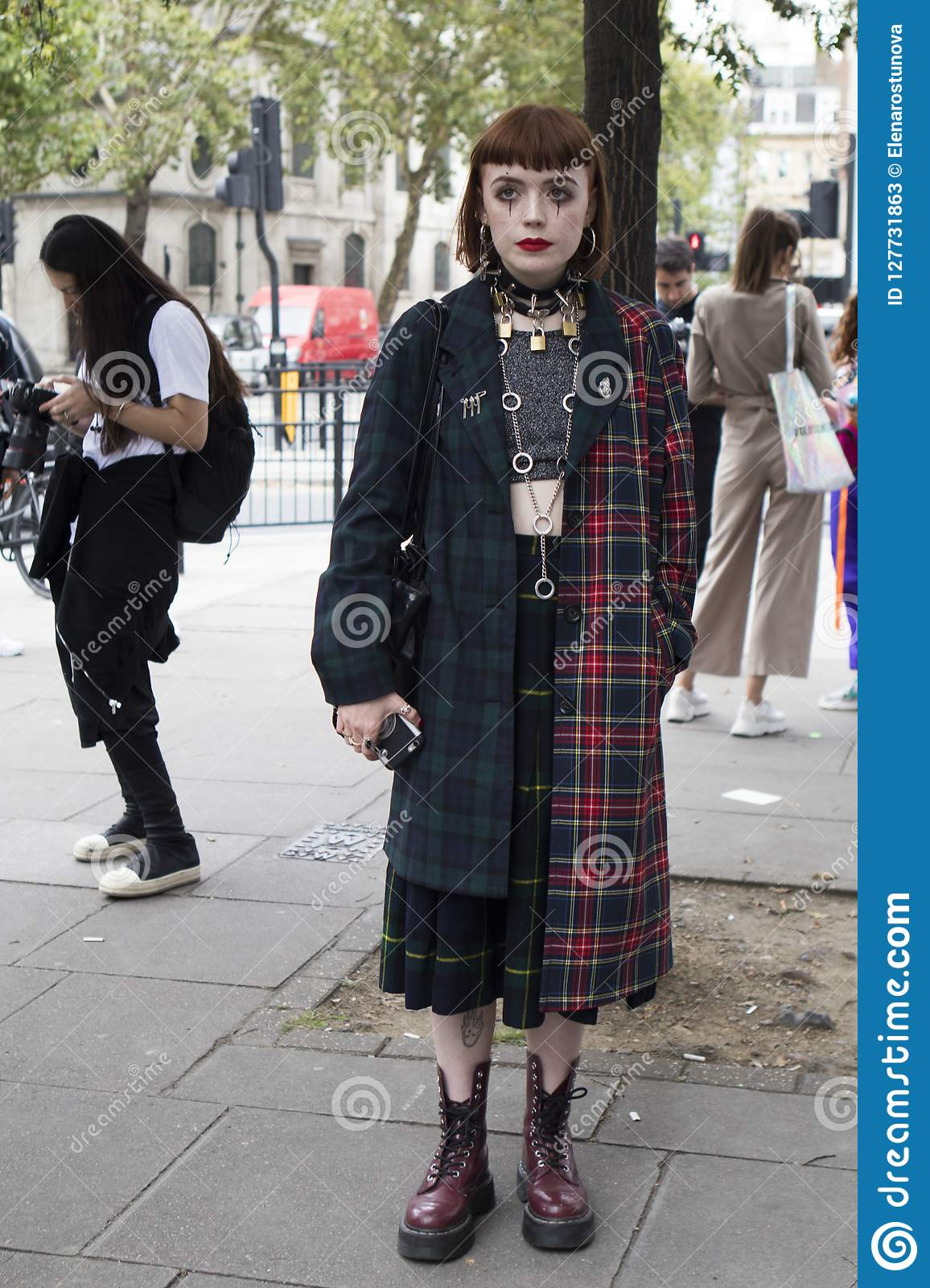 5b2855ab144 People On The Street During The London Fashion Week. Editorial Stock ...