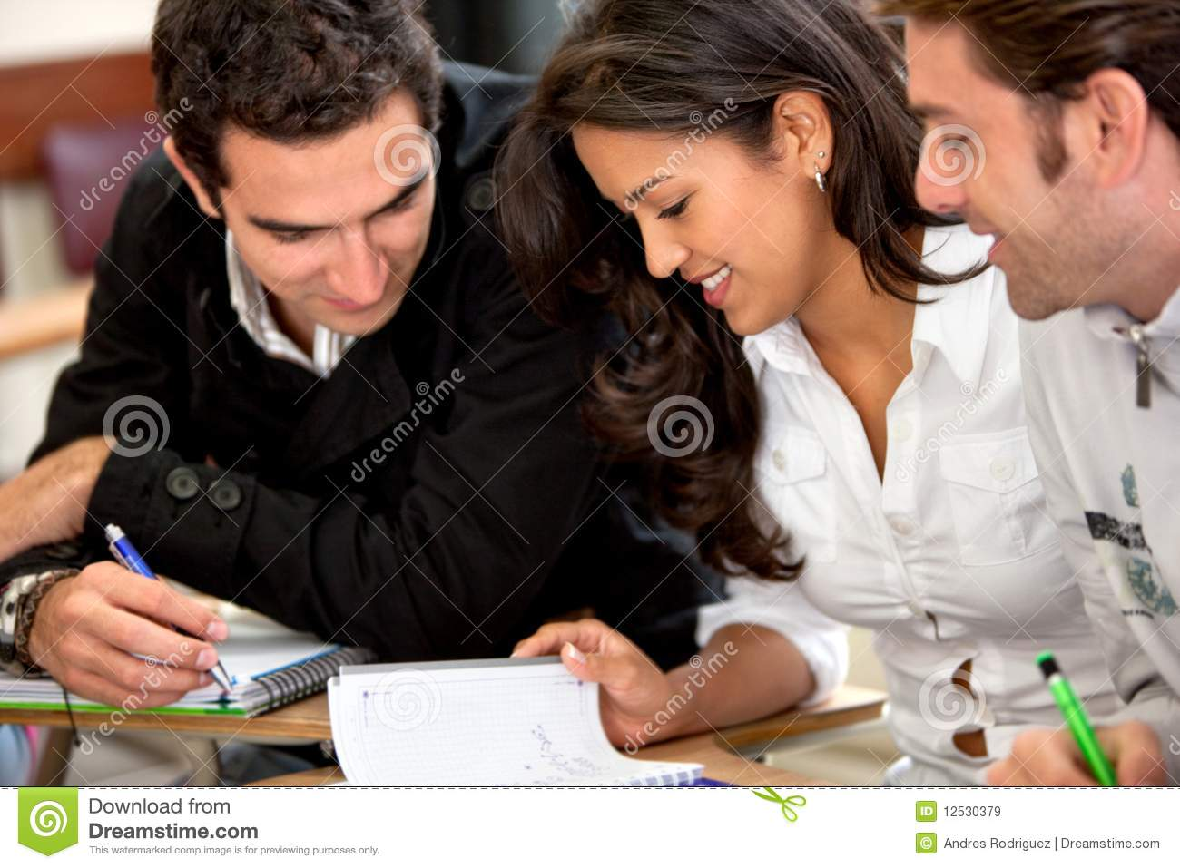 People Studying Stock Image Image Of Teamwork Casual