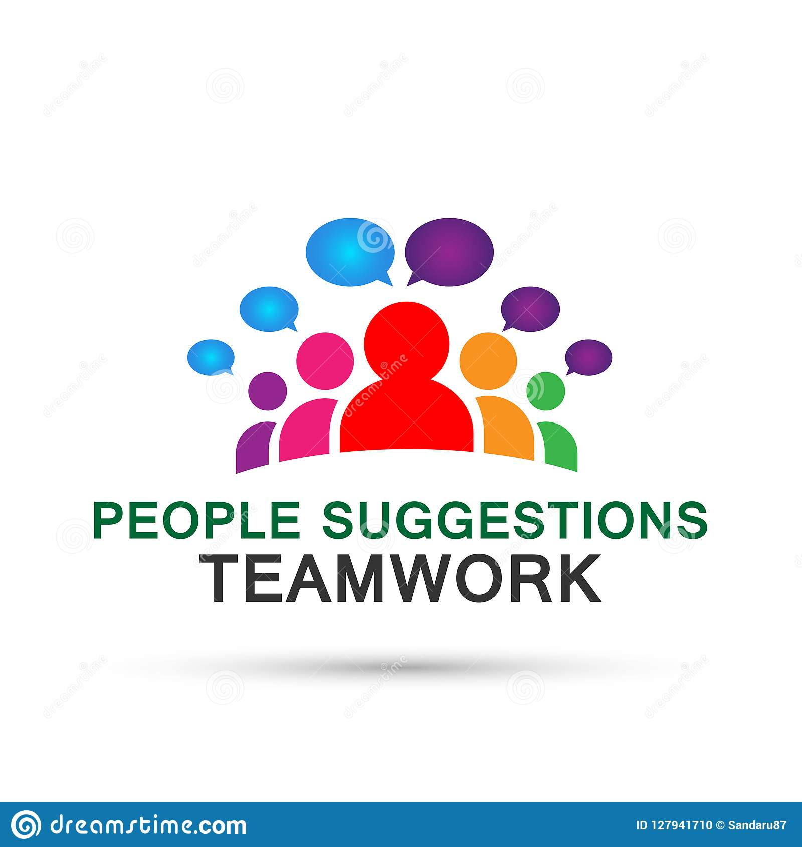People Suggestions Team Work Logo Partnership Education Celebration Group Work People Icon Vector Designs On White