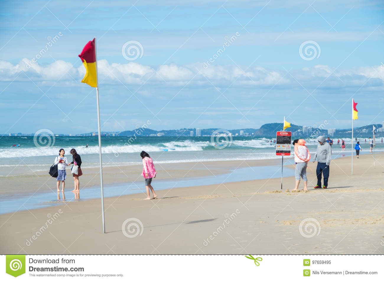 4821210acb2 People On Surfers Paradise Beach On The Gold Coast. Editorial Image ...
