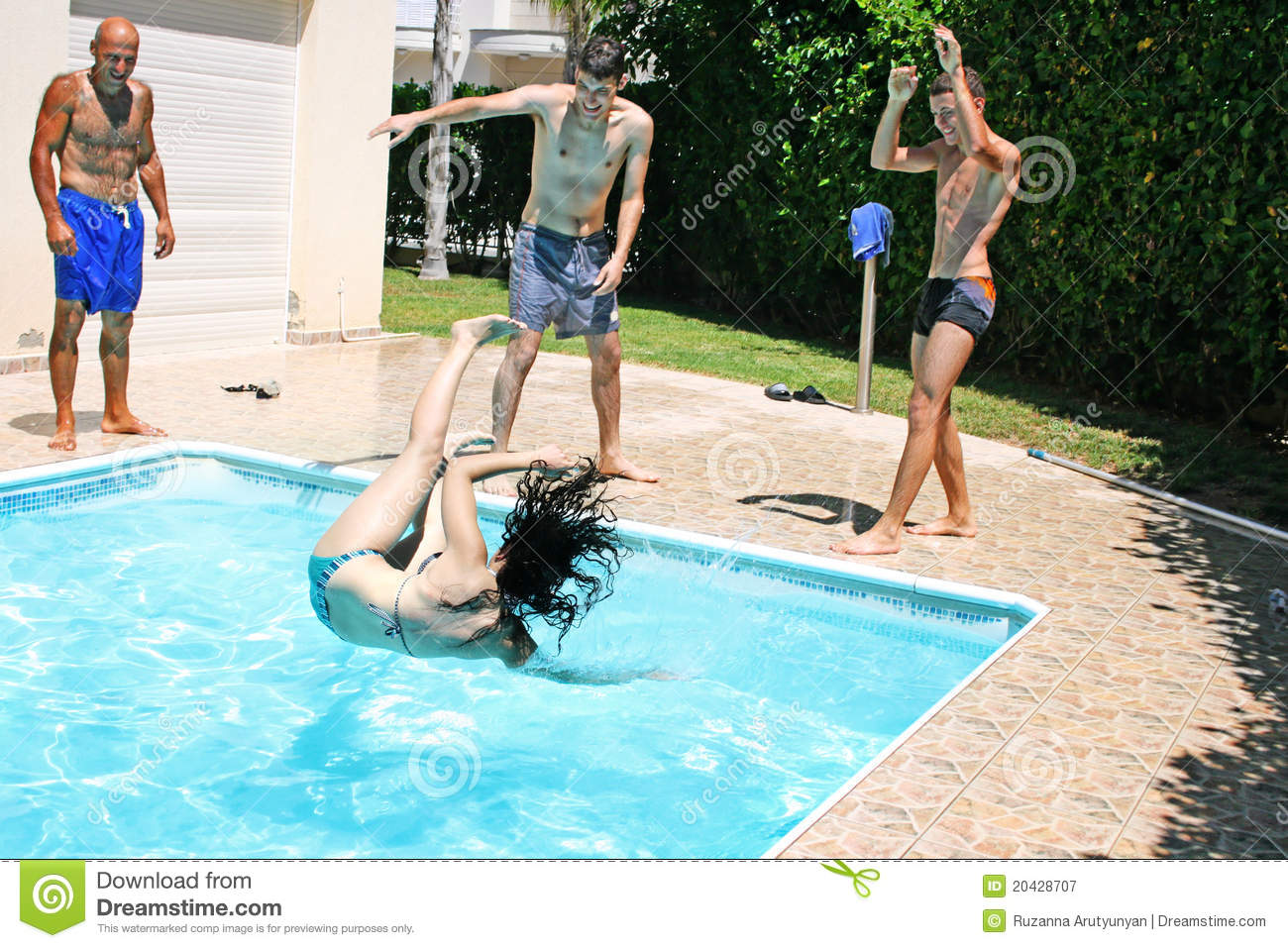 People At Swimming Pool Royalty Free Stock Photography Image 20428707