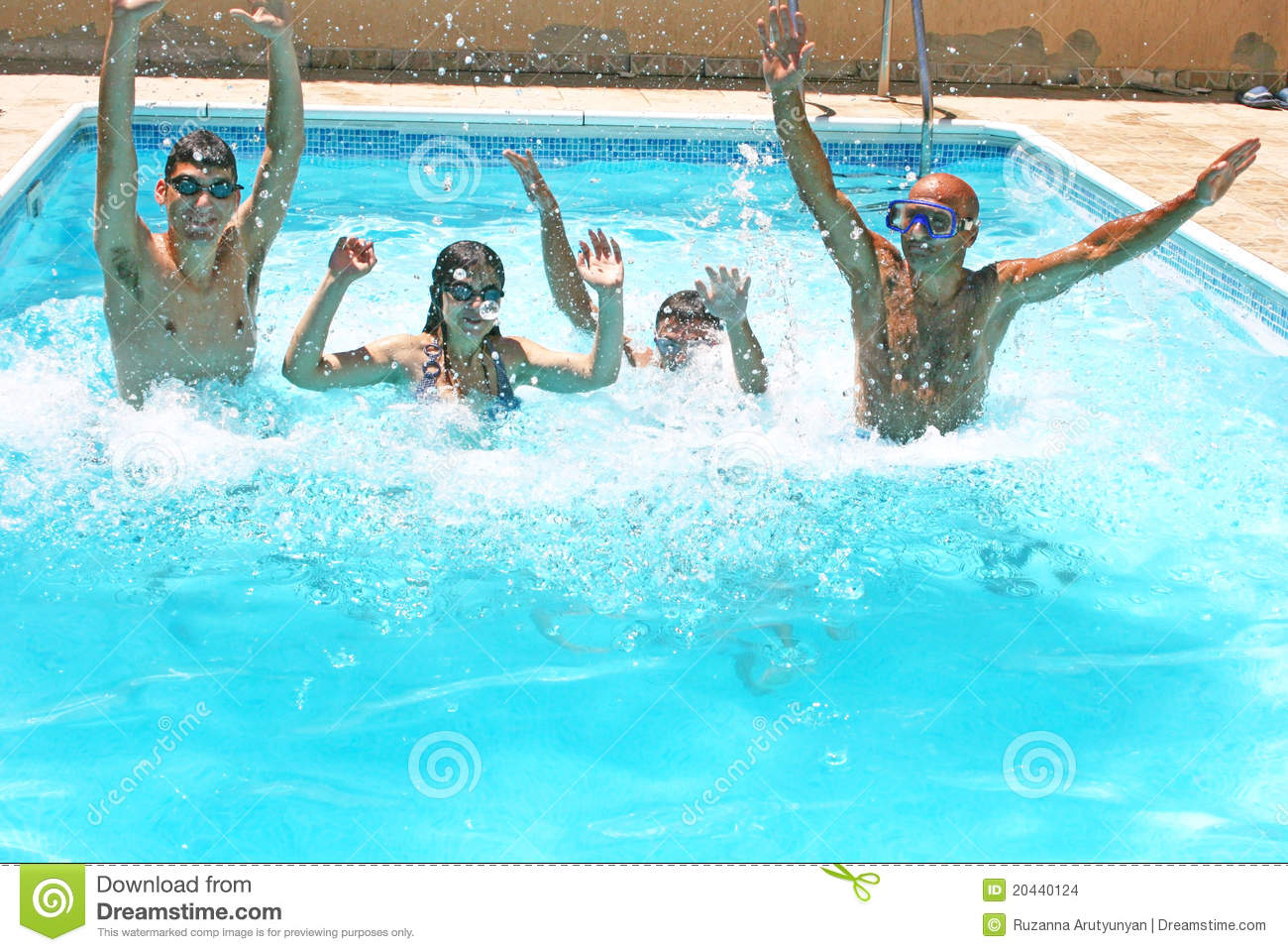 People in swimming pool stock photo image of life family for Pool time pools
