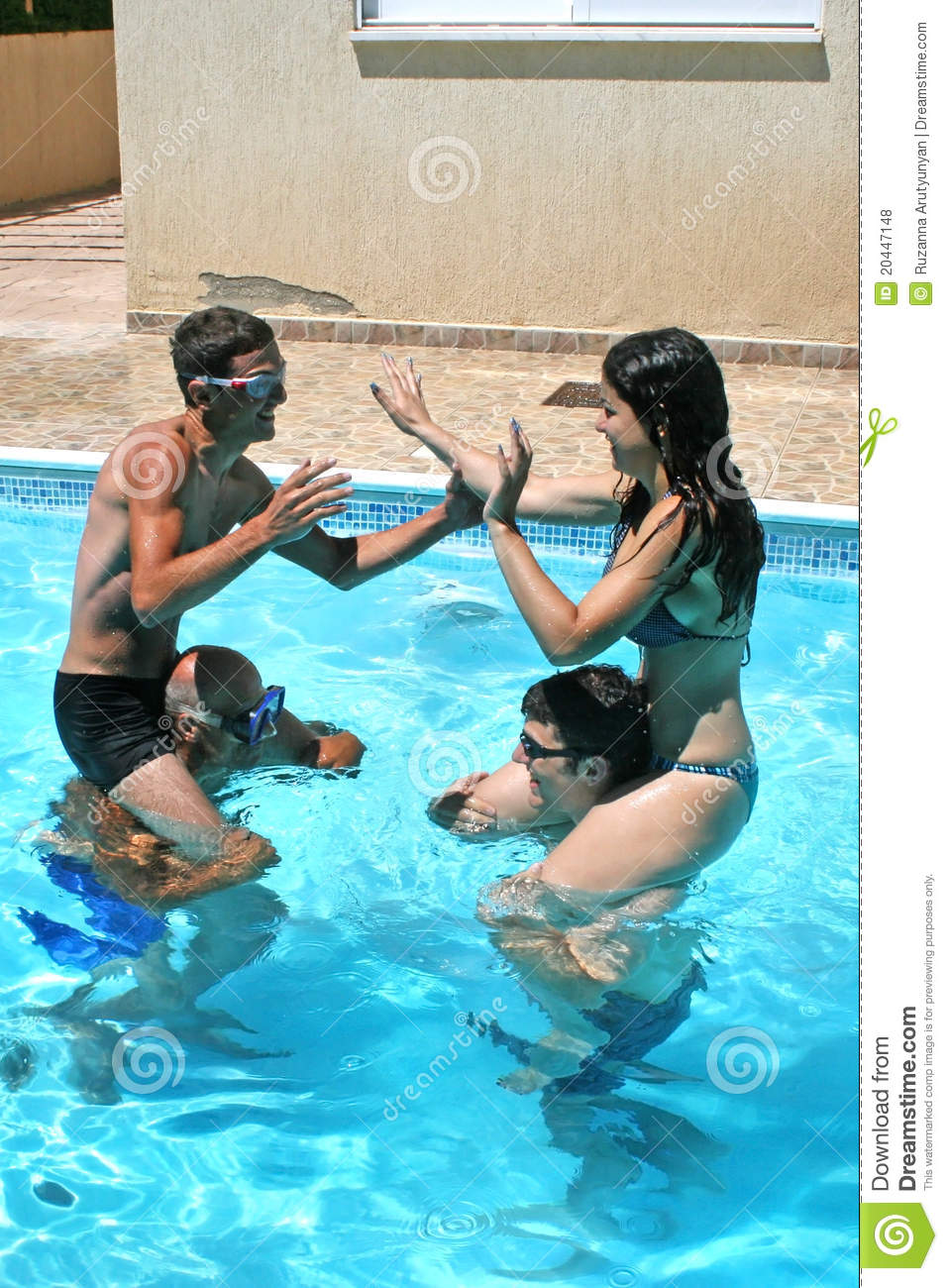 People In Swimming Pool Royalty Free Stock Photos Image