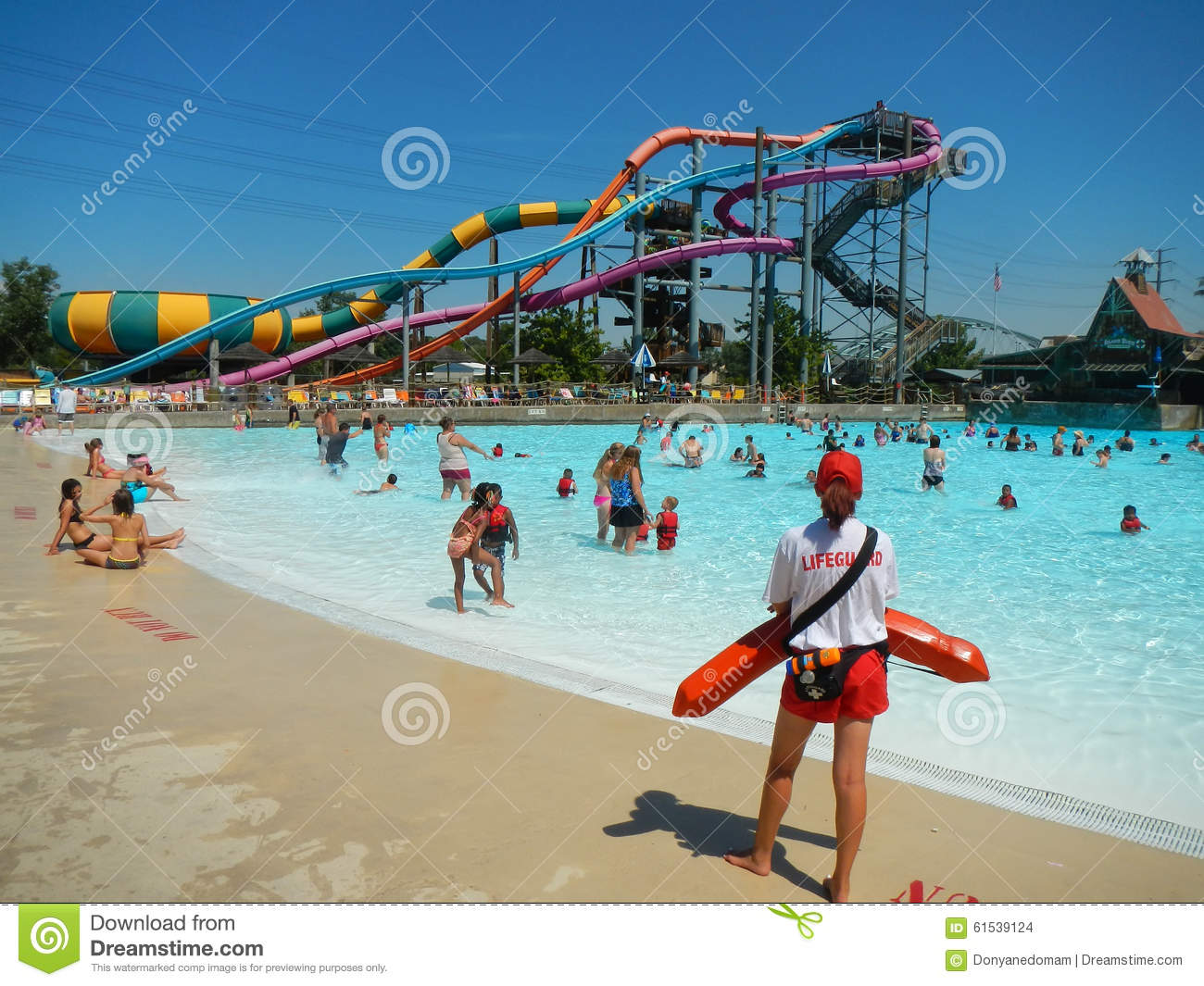 People swimming in a pool at Water park