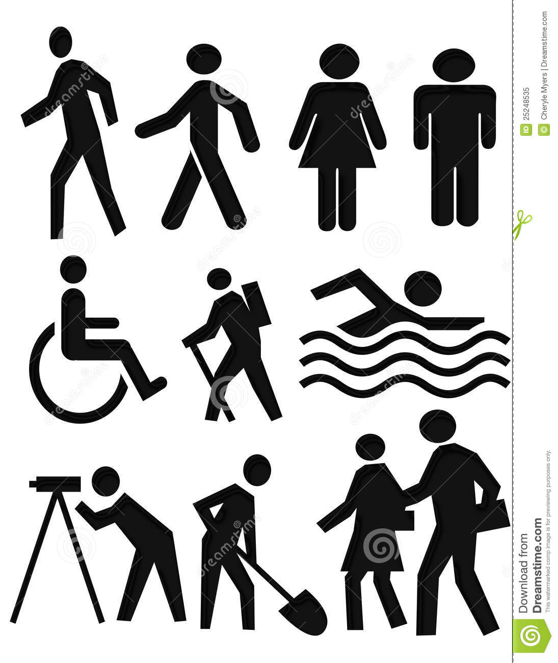 People Symbols Royalty Free Stock Photo Image 25248535