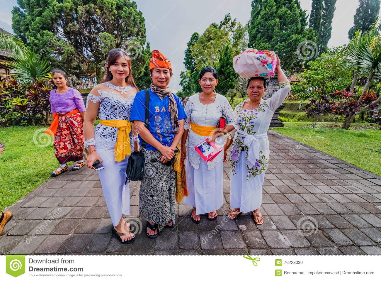 People In The Temple Of Pura Besakih Bali Indonesia