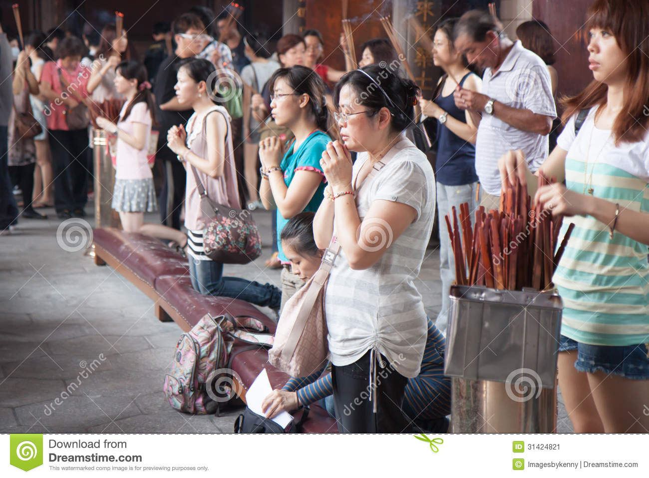 People in Temple