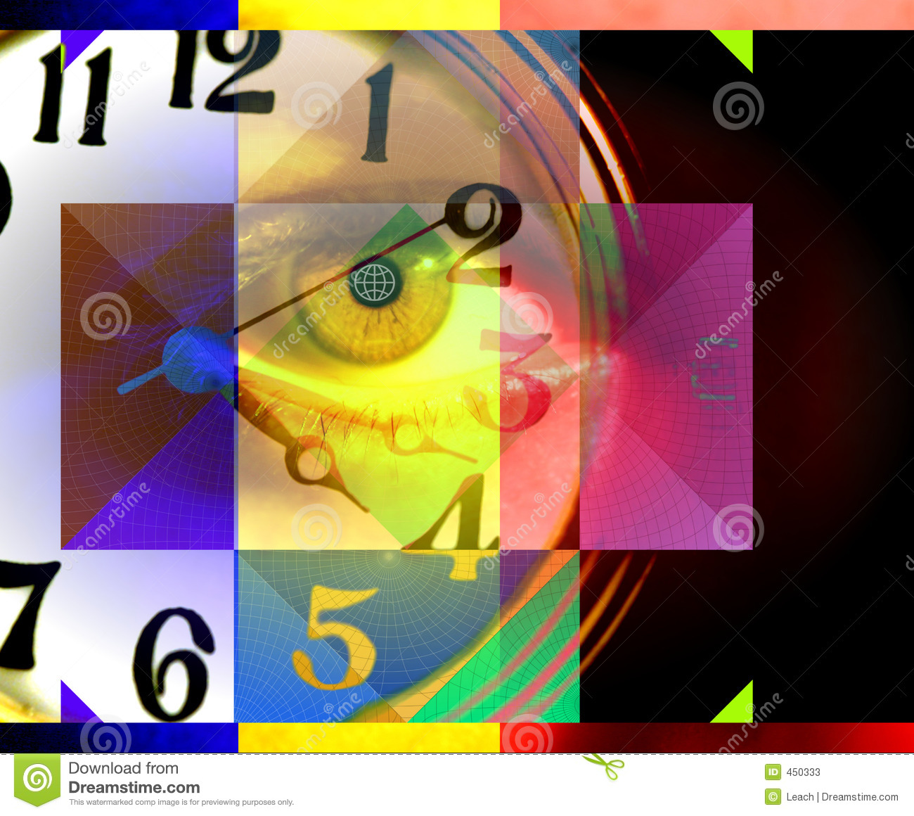 People and Time, Abstract Art and Concept