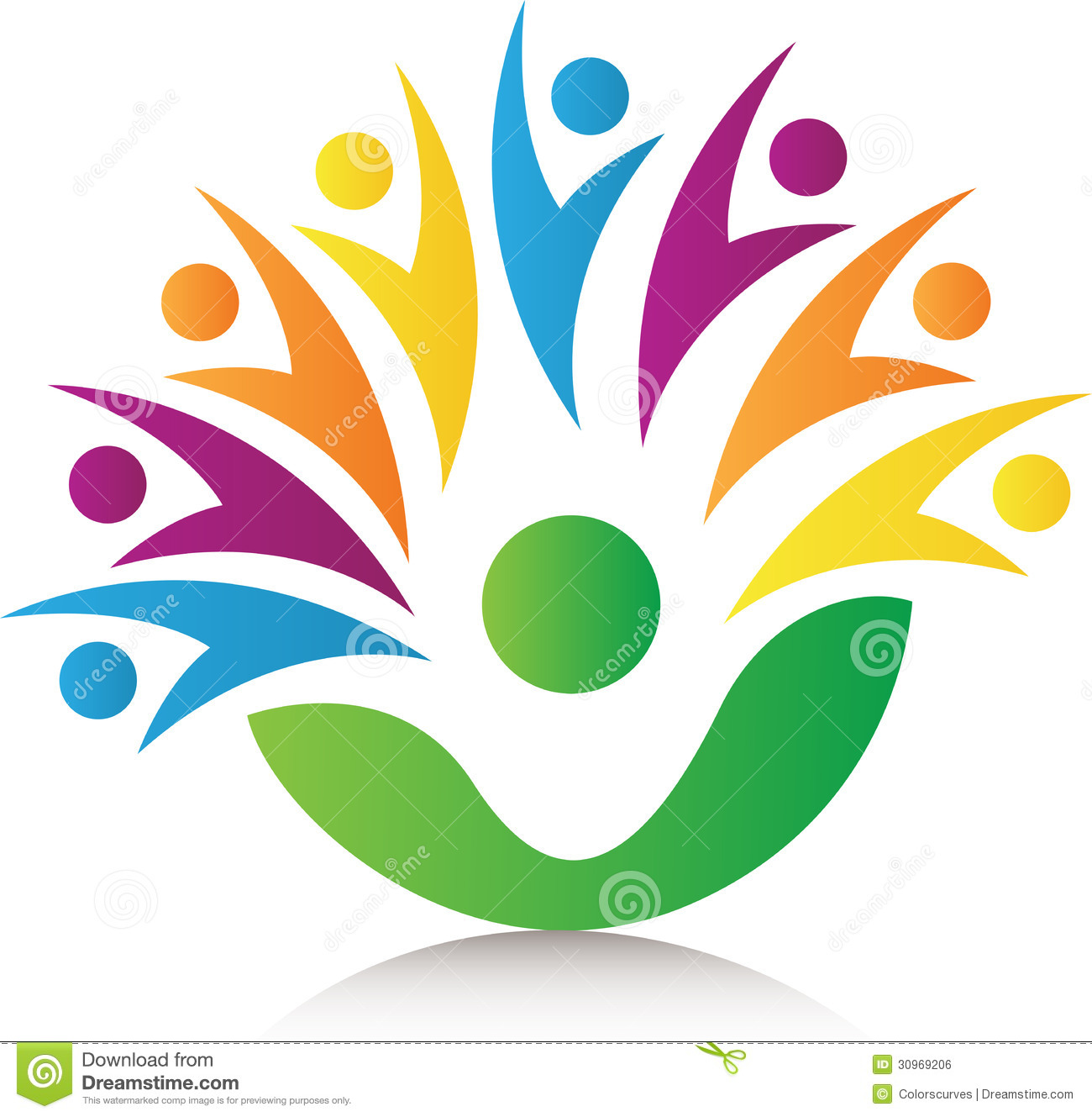 People Together Logo Royalty Free Stock Image - Image: 30969206