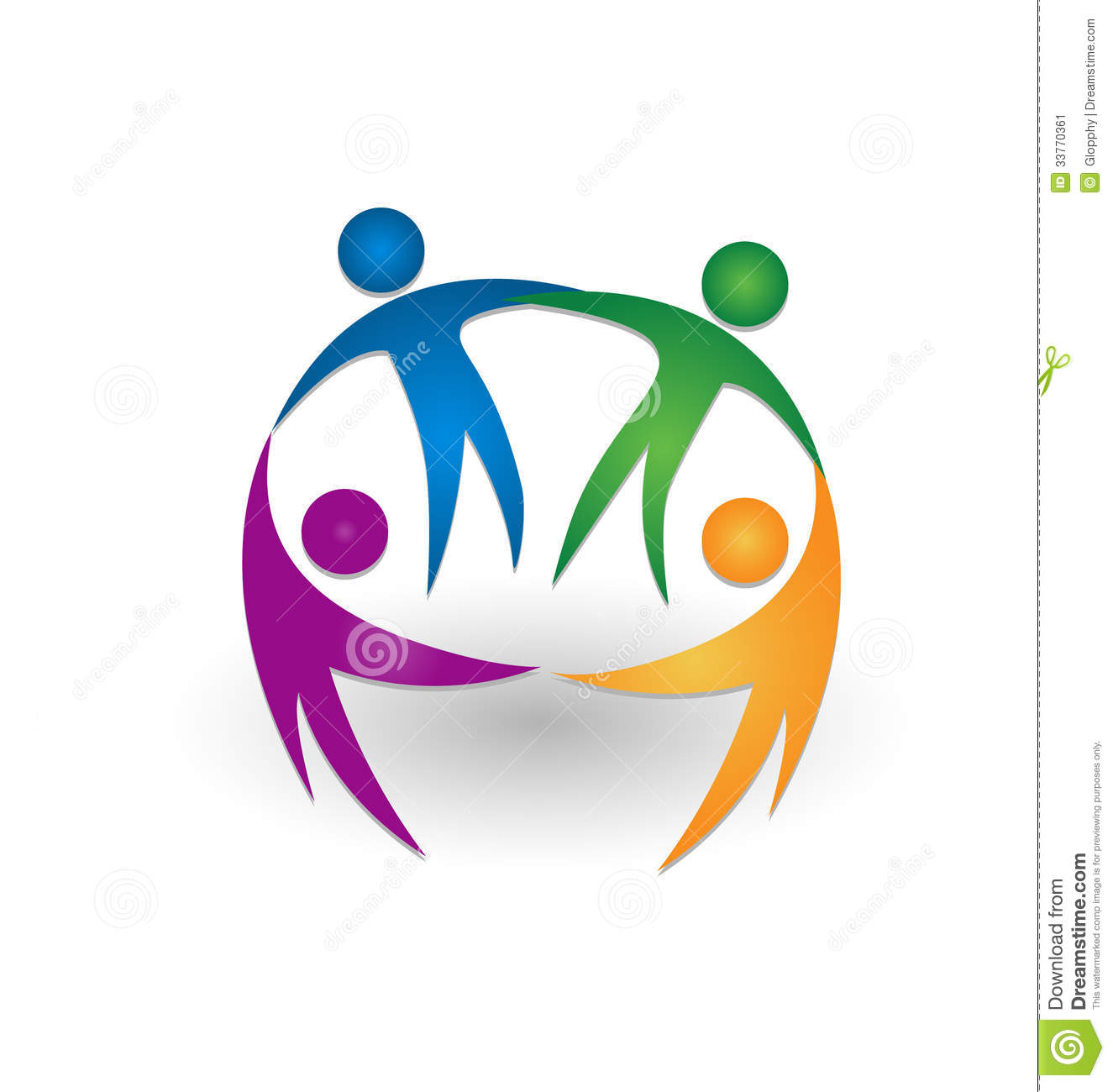 People Together Teamwork Logo Stock Image - Image: 33770361