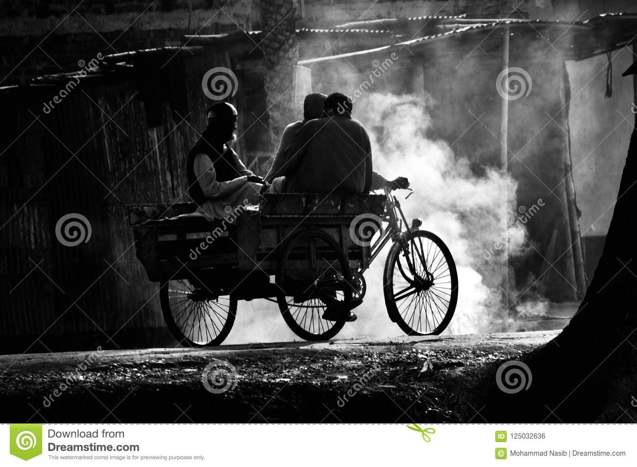Download People Travelling With Three Wheelers In A Village Road Editorial Photo - Image of editorial, people: 125032636