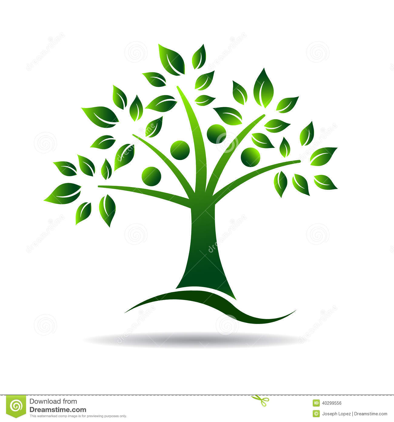 Ecology Family Tree Logo Cartoon Vector