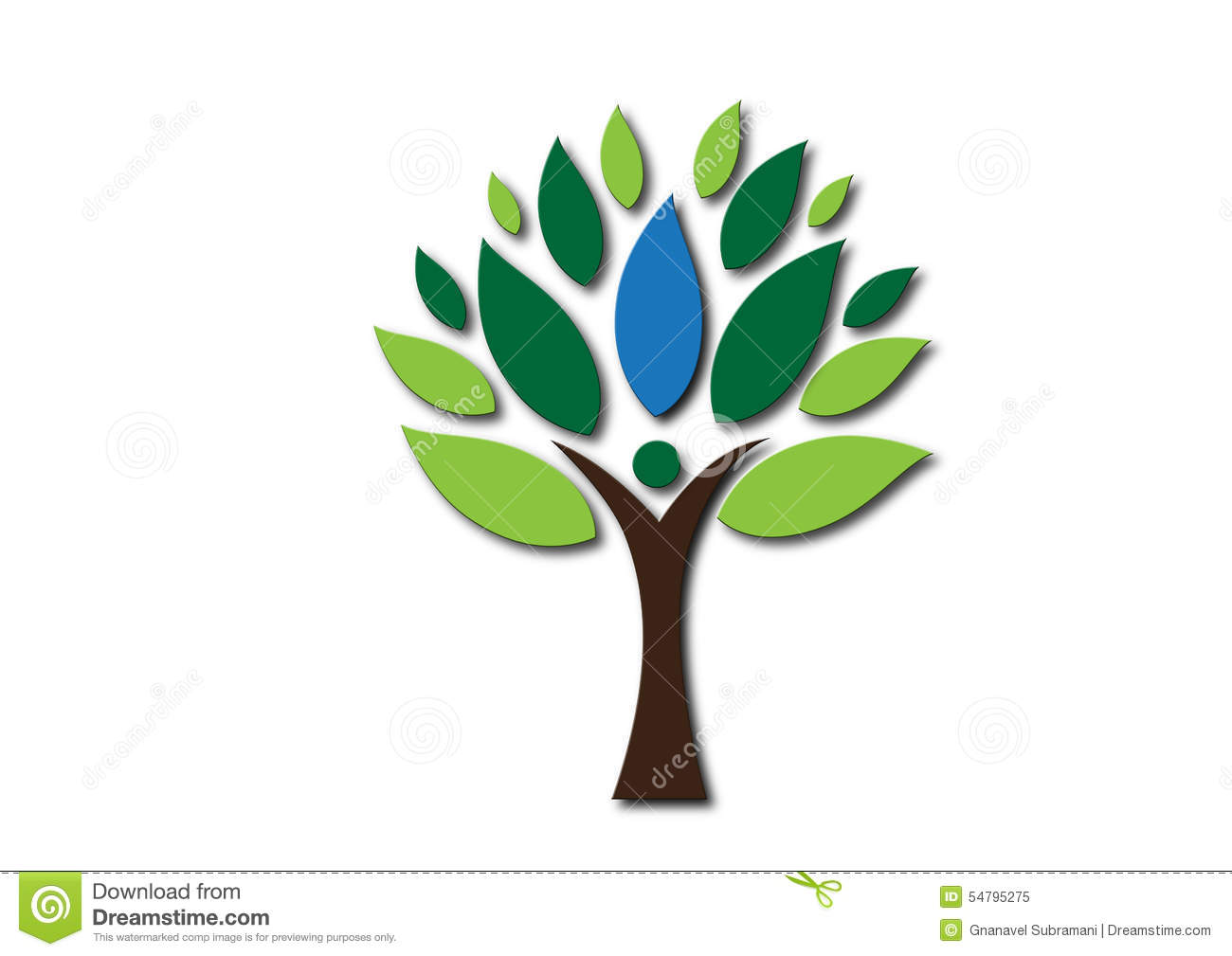 People Tree Logo Stock Illustration - Image: 54795275