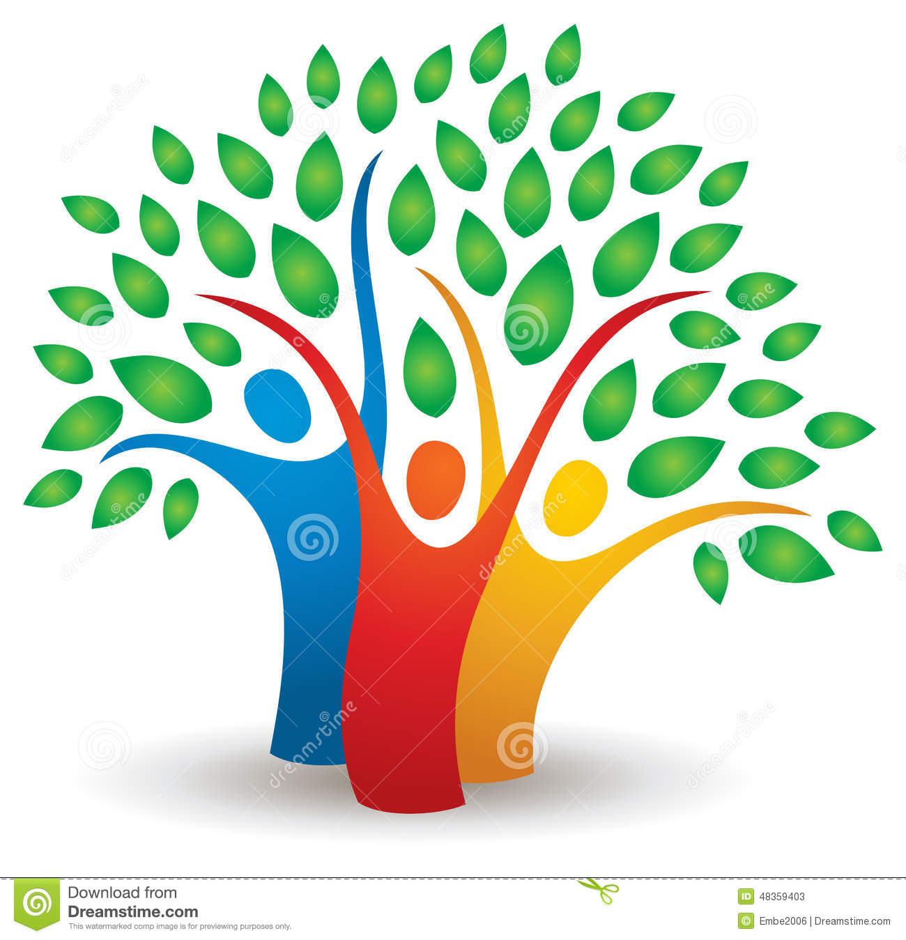 People Tree Logo Stock Vector - Image: 48359403