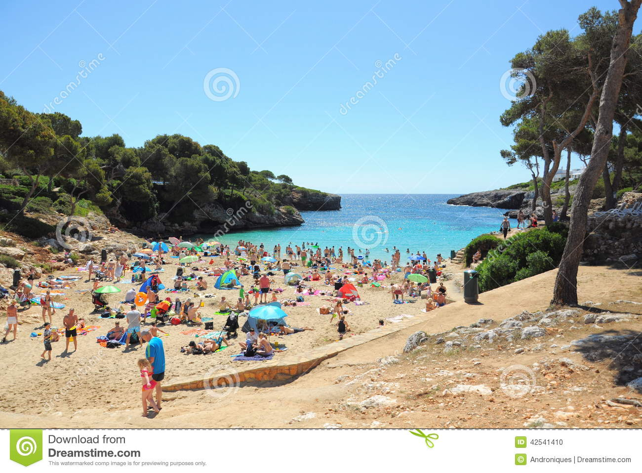 People On Tropical Beach Cala DOr Mallorca