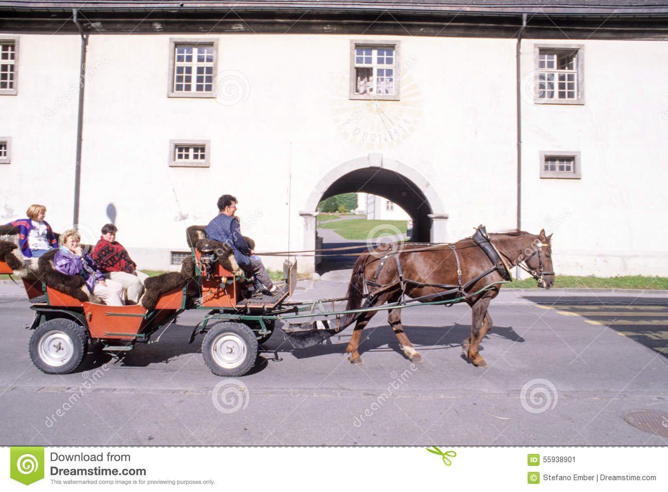 People Trying To Make A Tour On A Horsedrawn Carriage Editorial Photo  People Trying To Make Draw A Horse Jumping