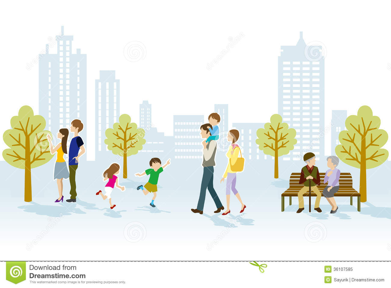 People In Urban Park Royalty Free Stock Photo - Image: 36107585