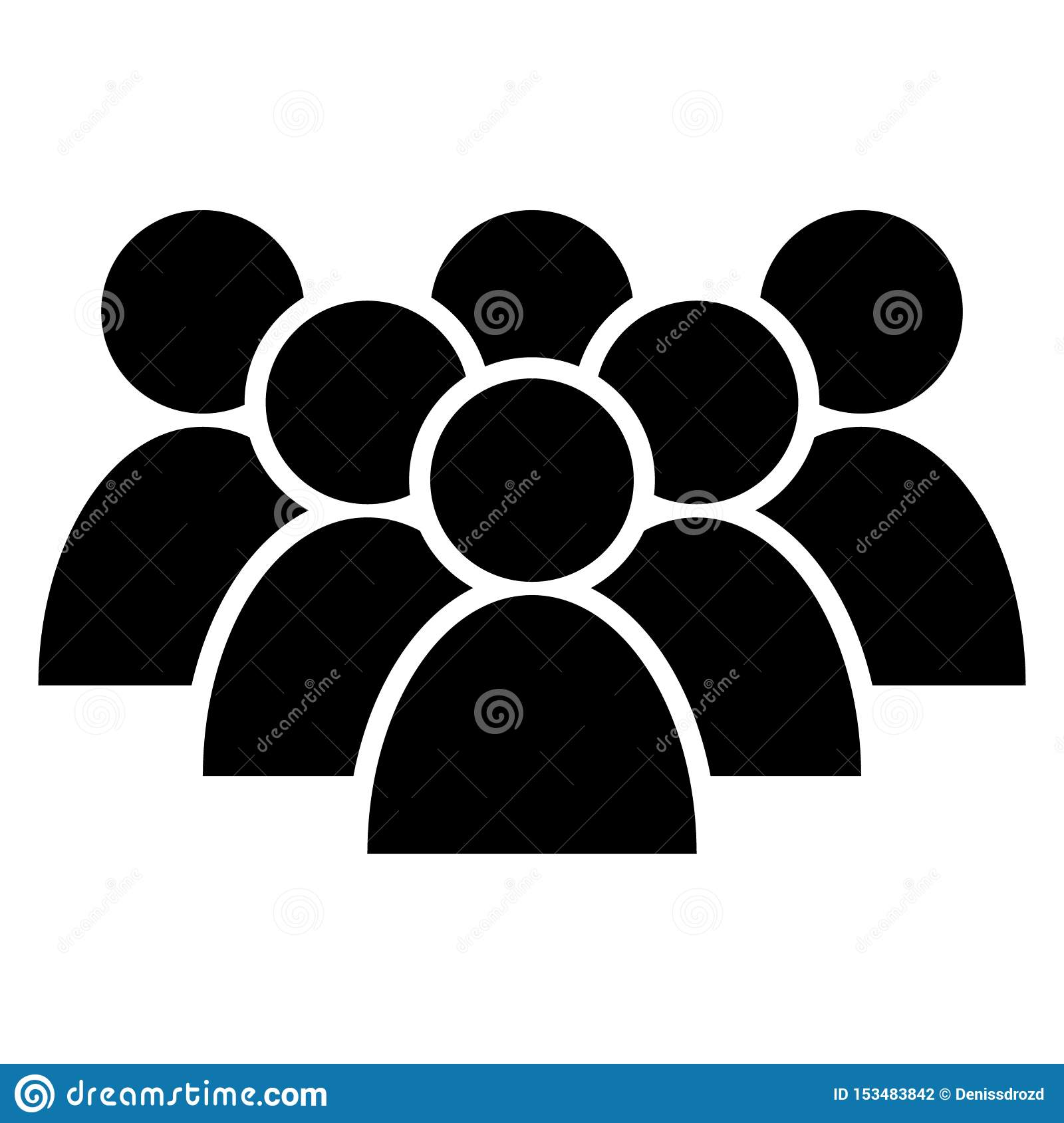 People vector icon . Group of people symbol illustration. businessman group logo. Multiple users silhouette icon.