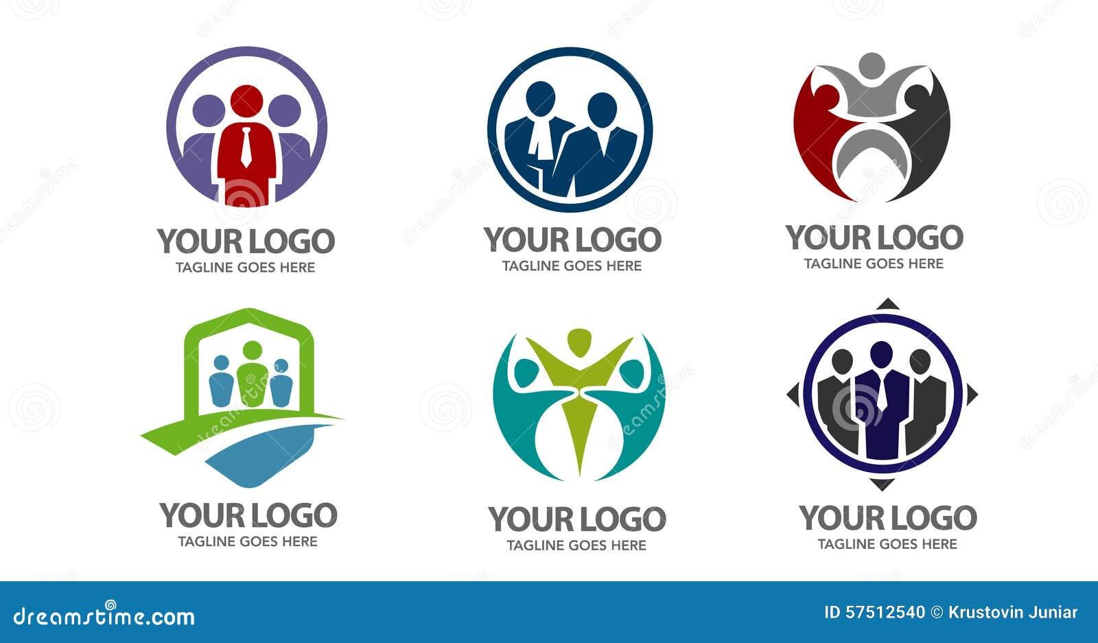 People vector logo stock vector. Image of blue, head - 57512540