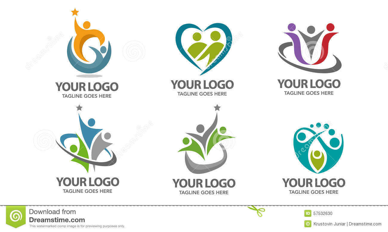 People vector logo stock vector. Image of graphic, community ...