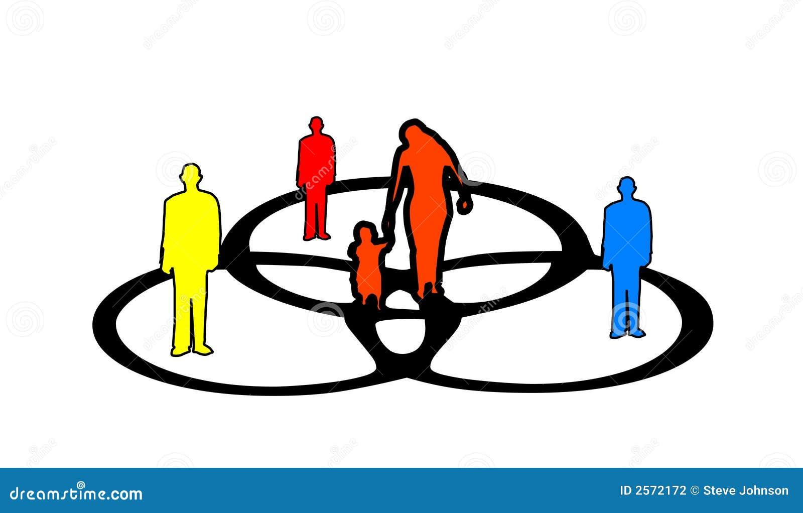 People And A Venn Diagram Stock Illustration  Illustration