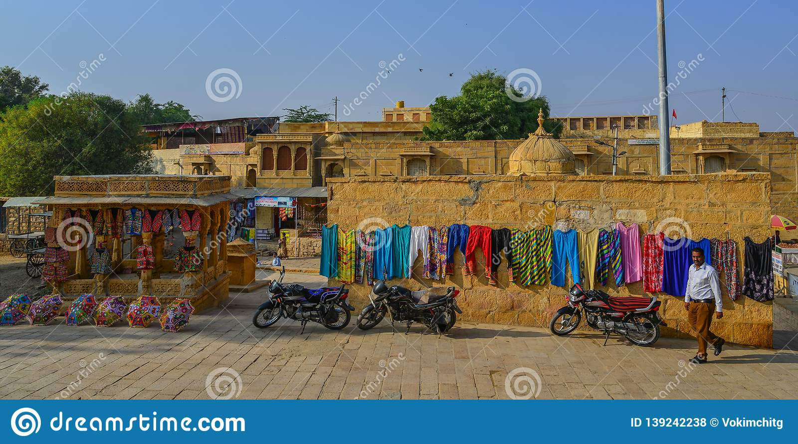 People Visit Jaisalmer Fort Editorial Stock Photo - Image of