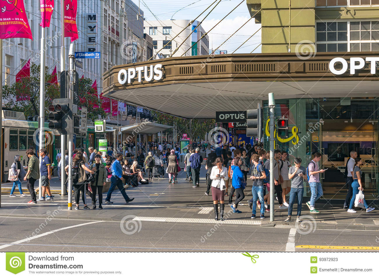 People Waiting For Green Traffic Lights Editorial Stock