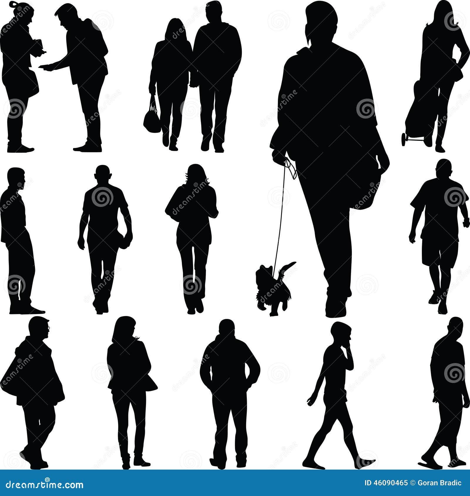 People Walk Royalty Free Illustration