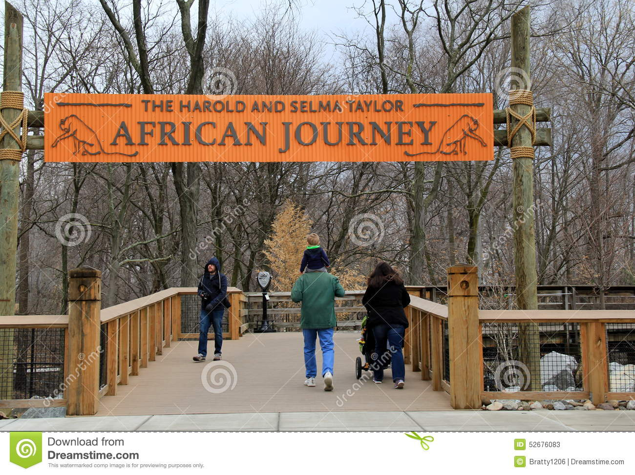 people walking into the african journey section baltimore