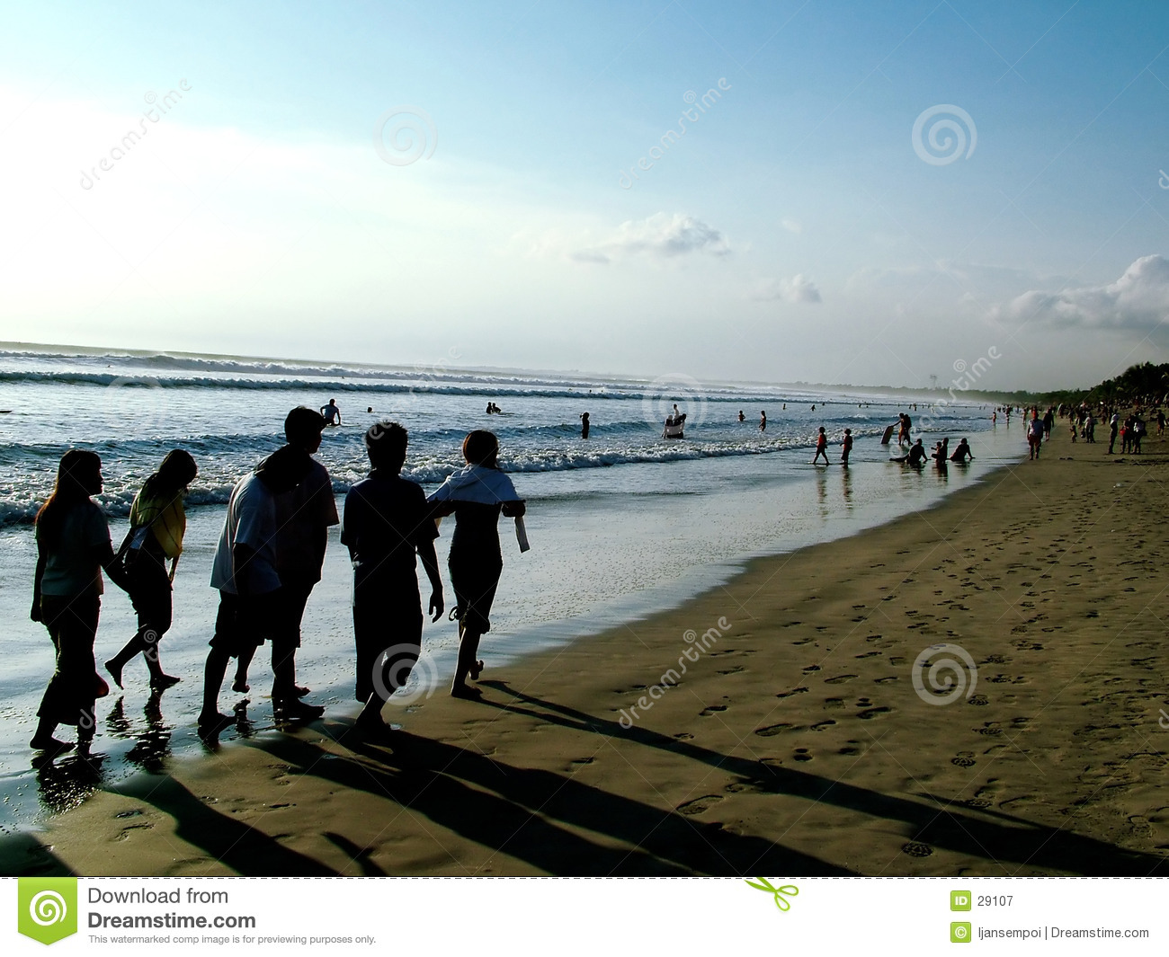 People walking - beach