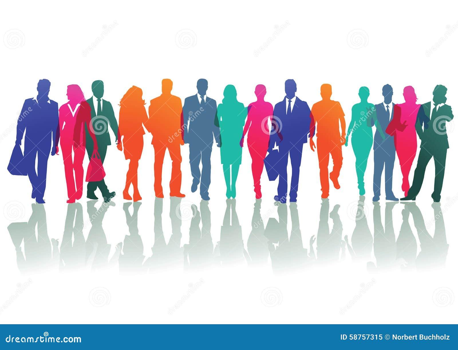 People Walking Stock Vector Image 58757315