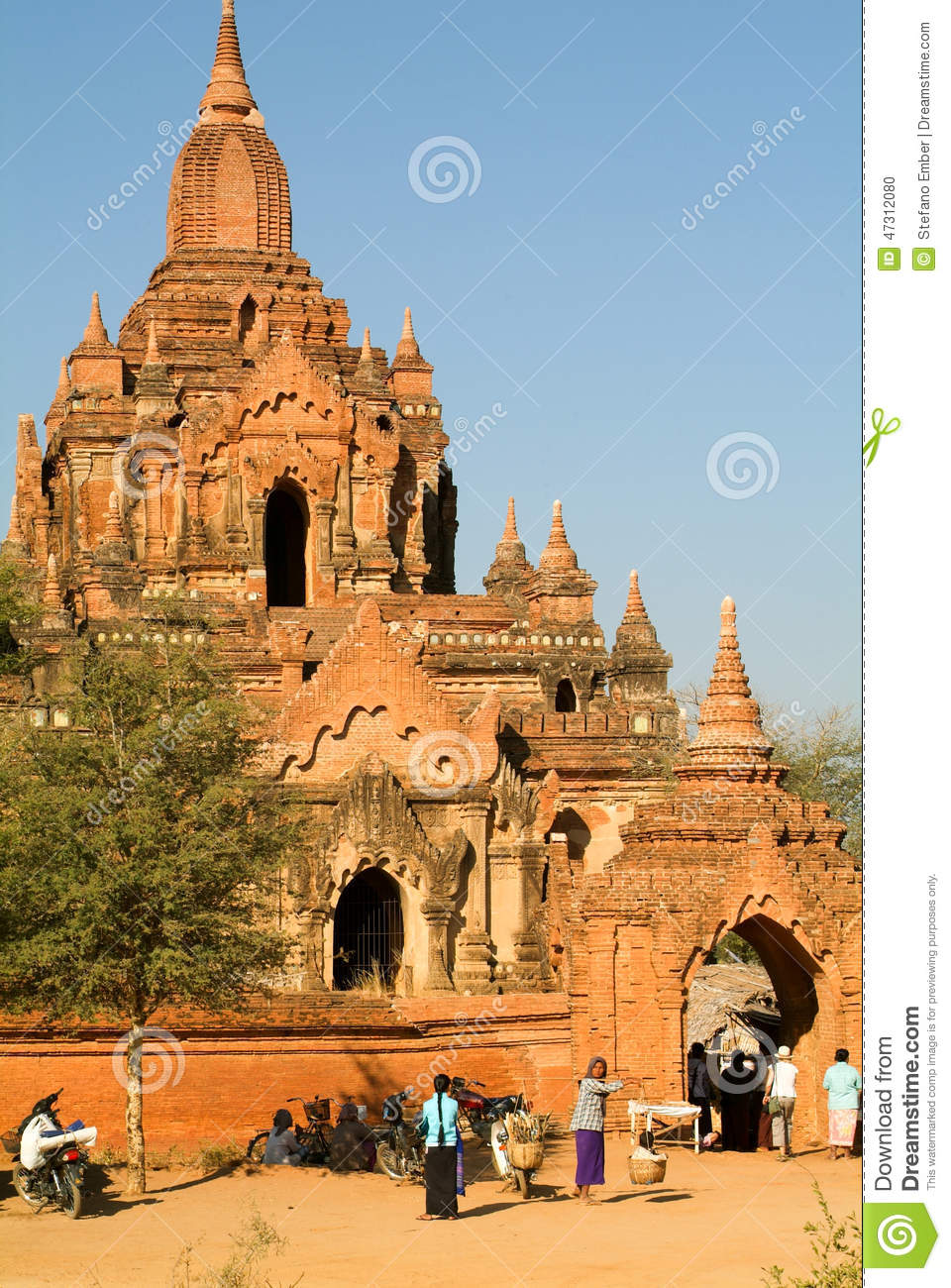 Pyi Myanmar Daily Journal: People Walking In Front Of Tayok Pyi Temple At The