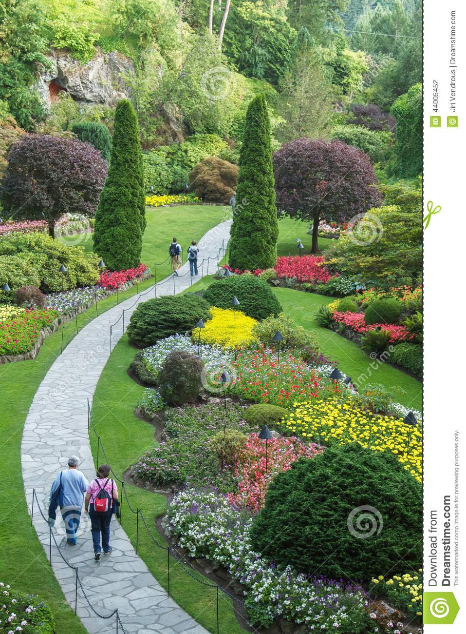 Download People Walking Through Park In Butchart Gardens, Victoria, BC  Editorial Photography   Image