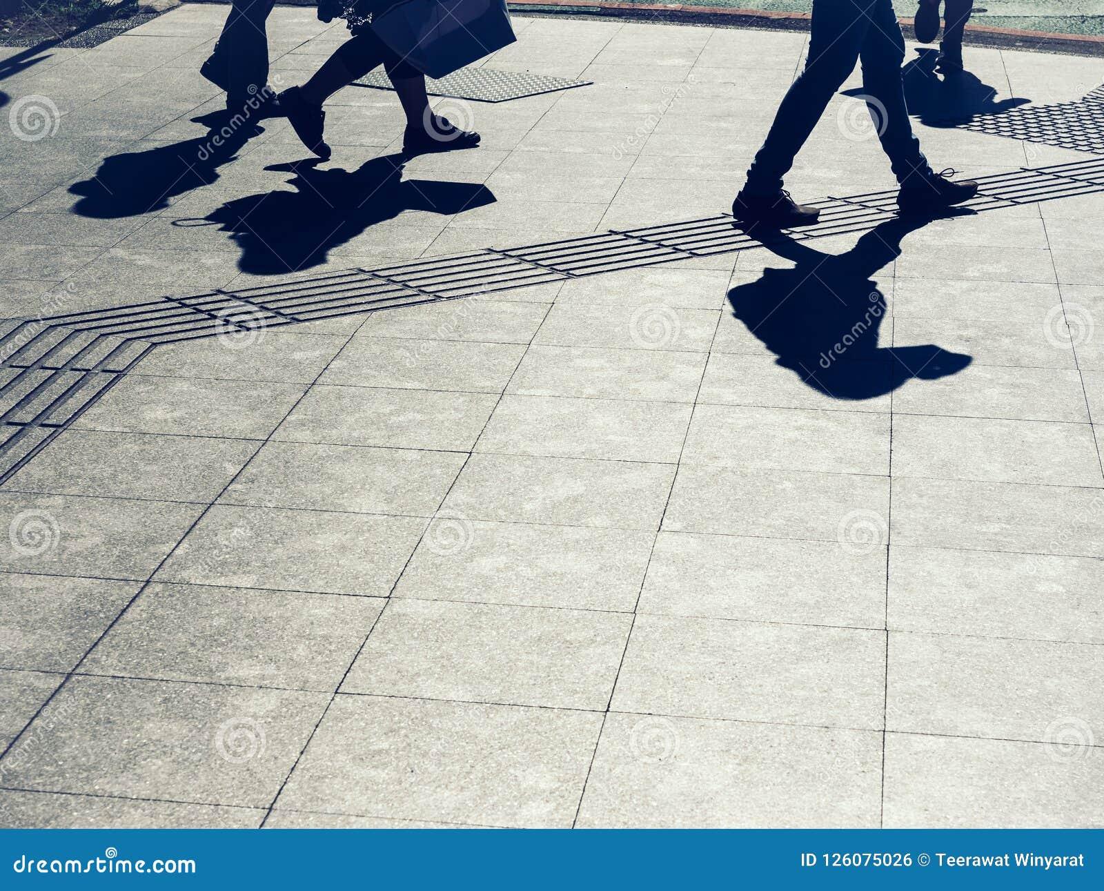 People walking on street Urban city lifestyle Background