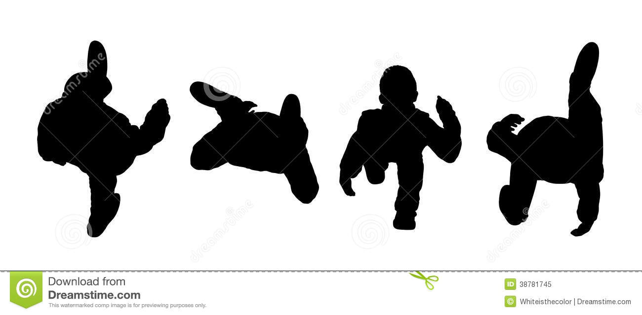 People Walking Top View Silhouettes Set 1 Stock Illustration - Image ...