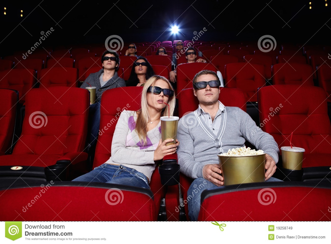 people watch movies in cinema stock image image of entertainment